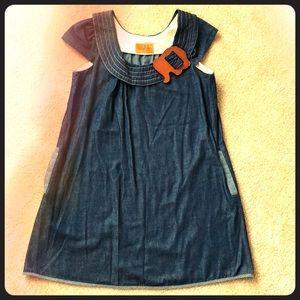 Unique A-Line soft Denim Dress by Voom! Size L